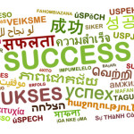 Background concept wordcloud multilanguage international many language illustration of success